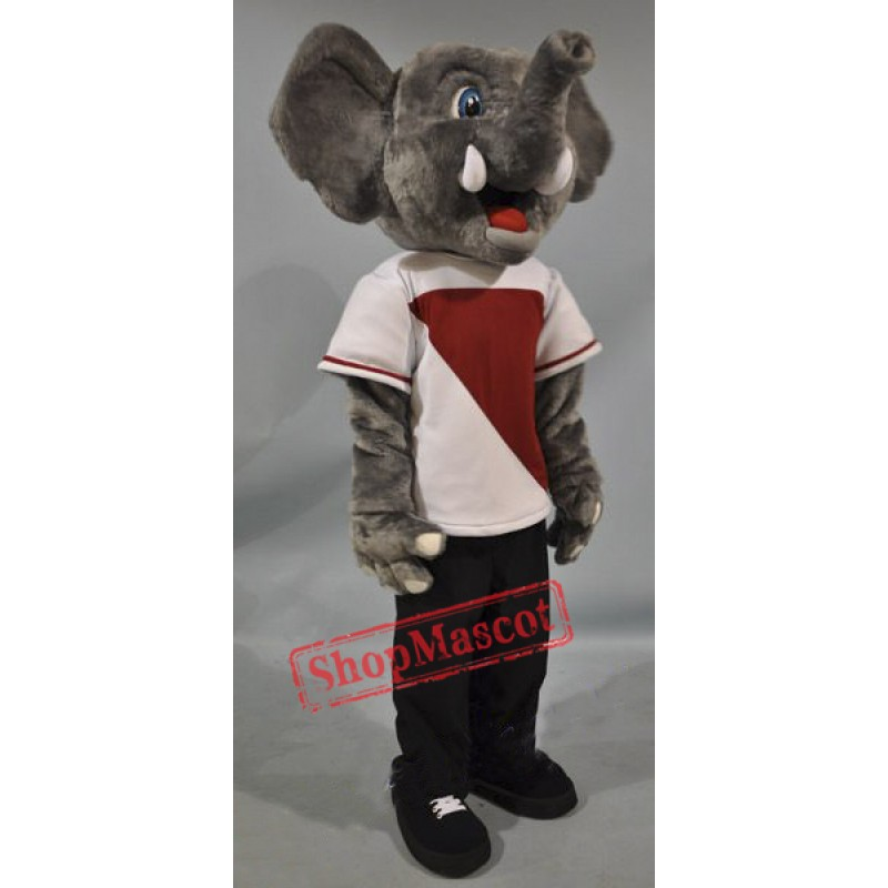 Happy Elephant Mascot Costume