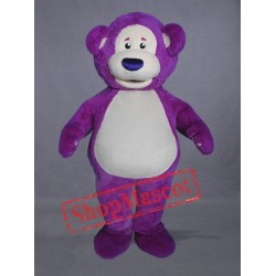 Purple Bear Mascot Costume