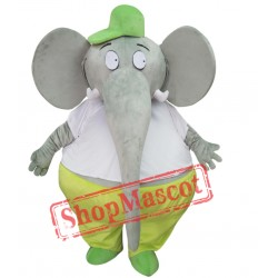 Big Fat Grey Elephant Mascot Costume