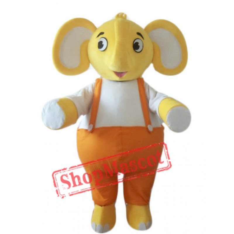 Golden Adult Elephant Mascot Costume