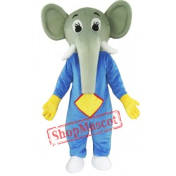 Blue Body Elephant Mascot Costume