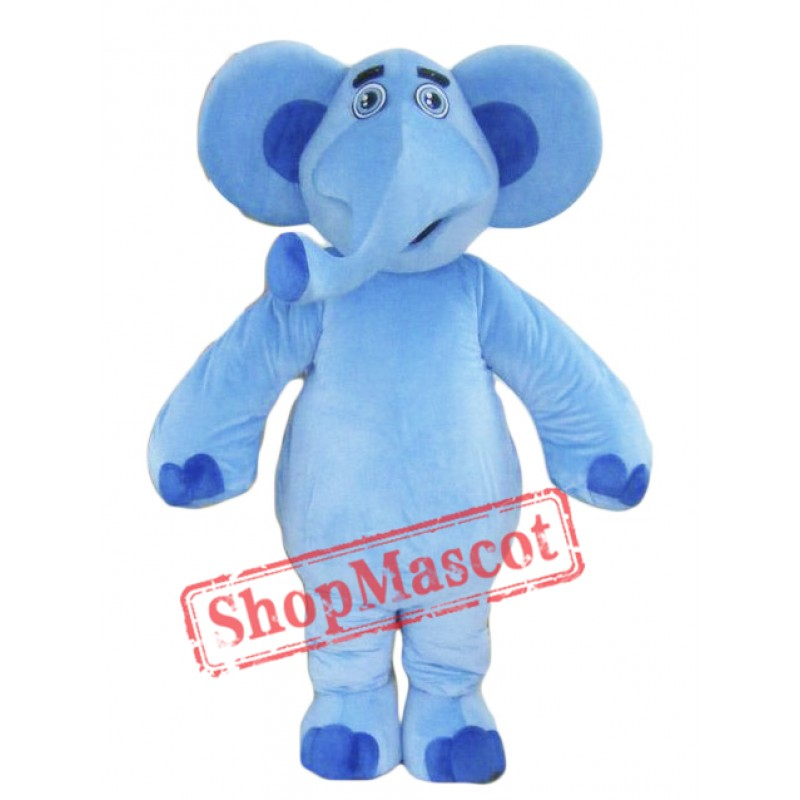 Blue Elephant Mascot Costume For Adults