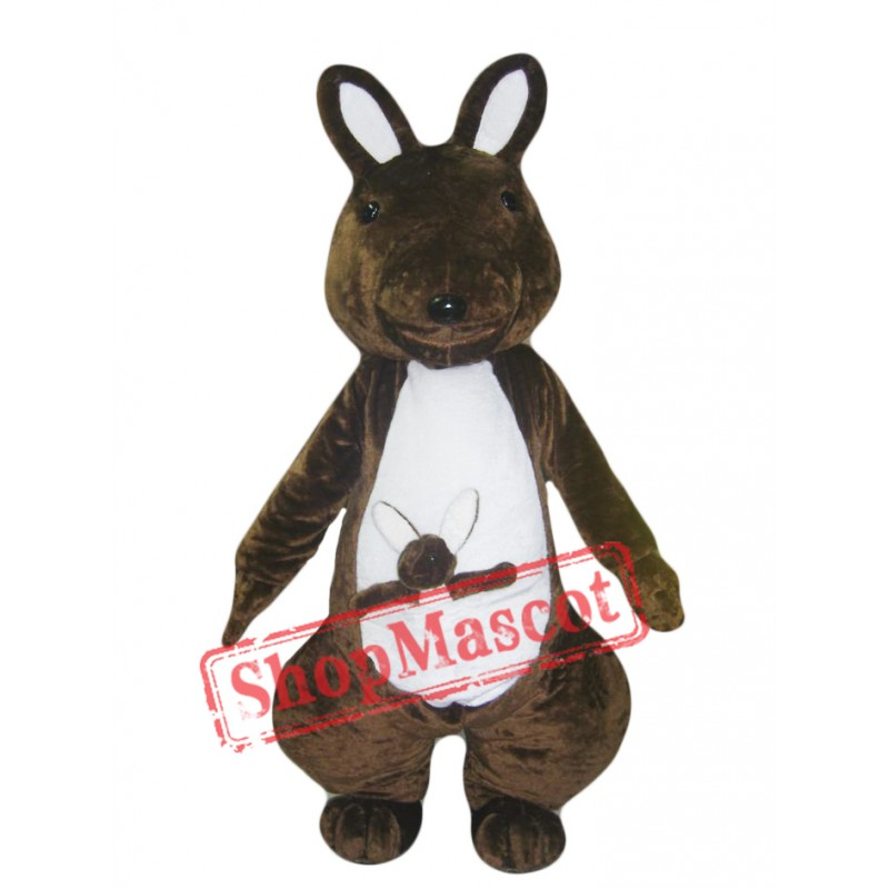 Chocolate Kangaroo Mascot Costume