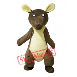 Brown & Yellow Kangaroo Mascot Costume