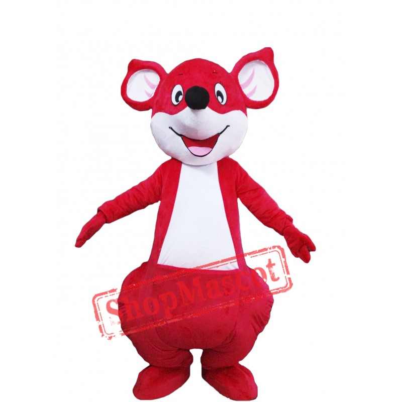 Red Happy Kangaroo Mascot Costume