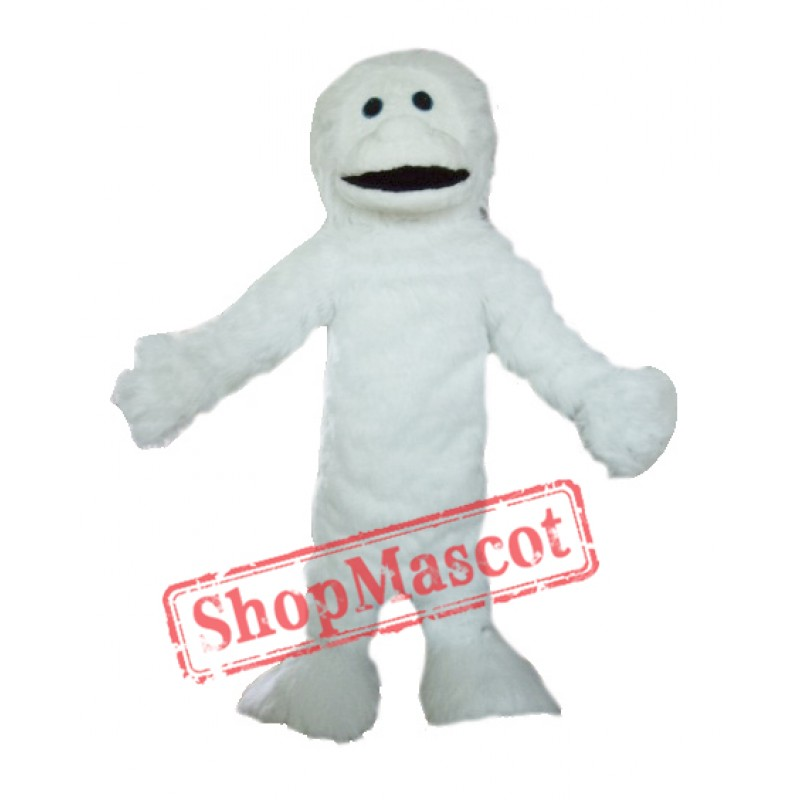 Adult White Yeti Mascot Costume