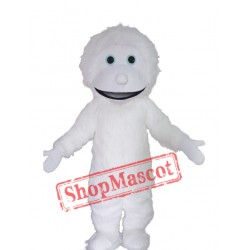 Cute White Yeti Mascot Costume