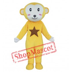 Yellow White Monkey Mascot Costume
