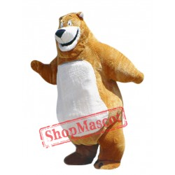 Happy Brown Bear Mascot Costume Free Shipping