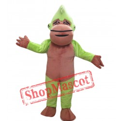 Green and Brown Chimpanzee Mascot Costume