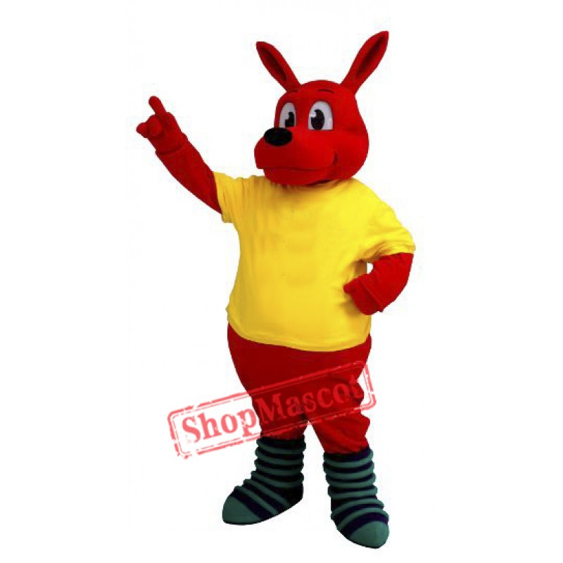 Cute Red Kangaroo Mascot Costume