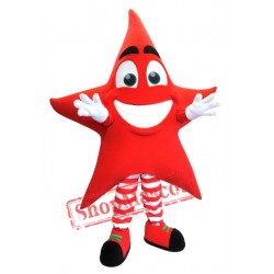 Red Star Mascot Costume
