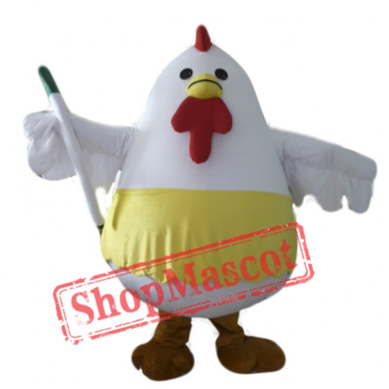 Fat Chicken Mascot Costume