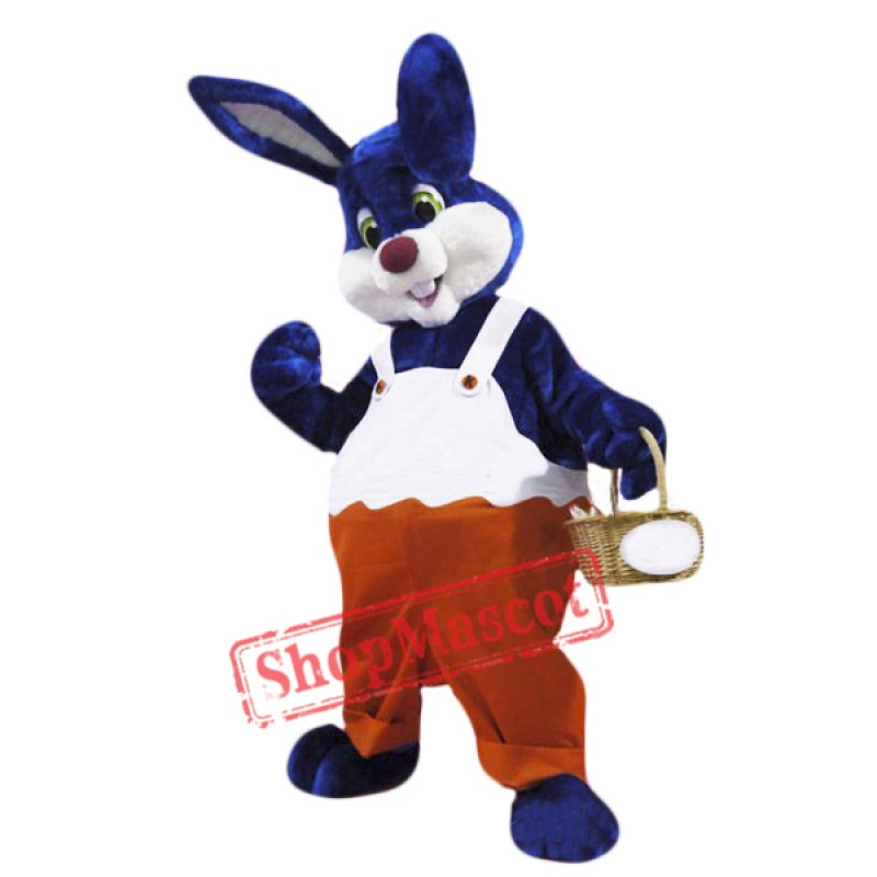 Blue Rabbit Mascot Costume