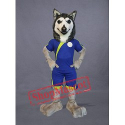 Football Husky Dog Mascot Costume