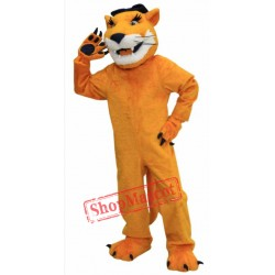 Brown Cougar Mascot Costume
