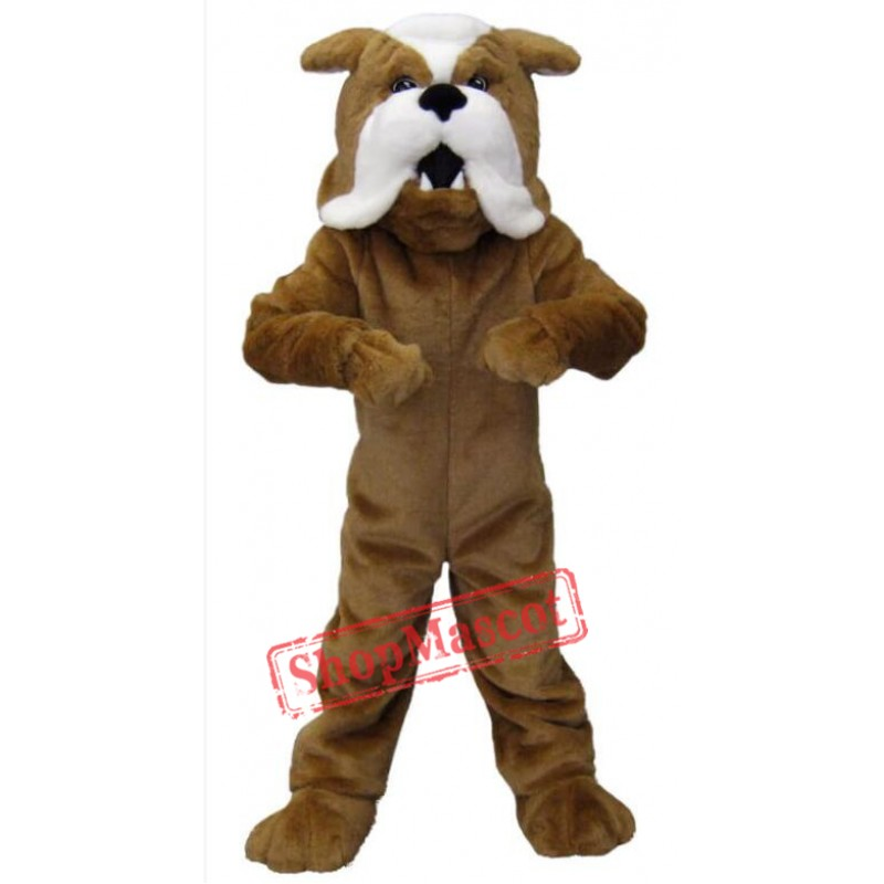Brown Bulldog Mascot Costumes