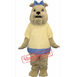 Female Bulldog Mascot Costume