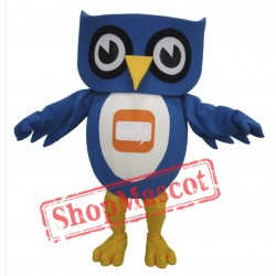Lovely Blue Owl Mascot Costume