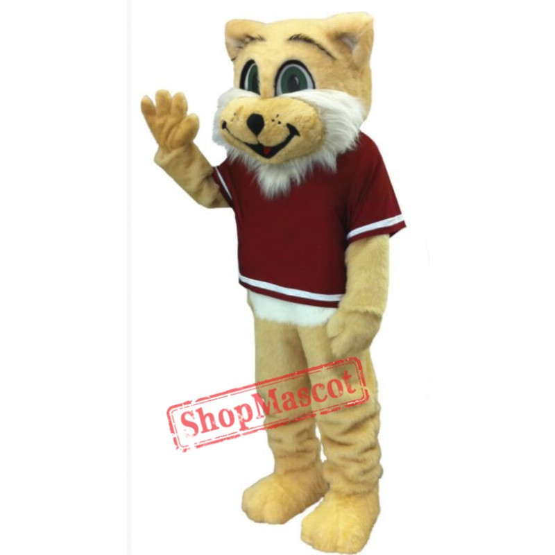 Happy Wildcat Mascot Costume