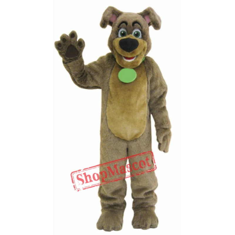 Cute Brown Dog Mascot Costume
