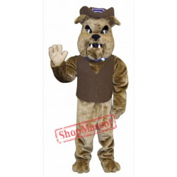 High Quality Brown Bulldog Mascot Costume
