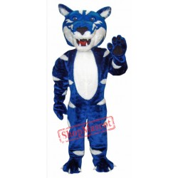 Blue& White Wild Cat Mascot Costume