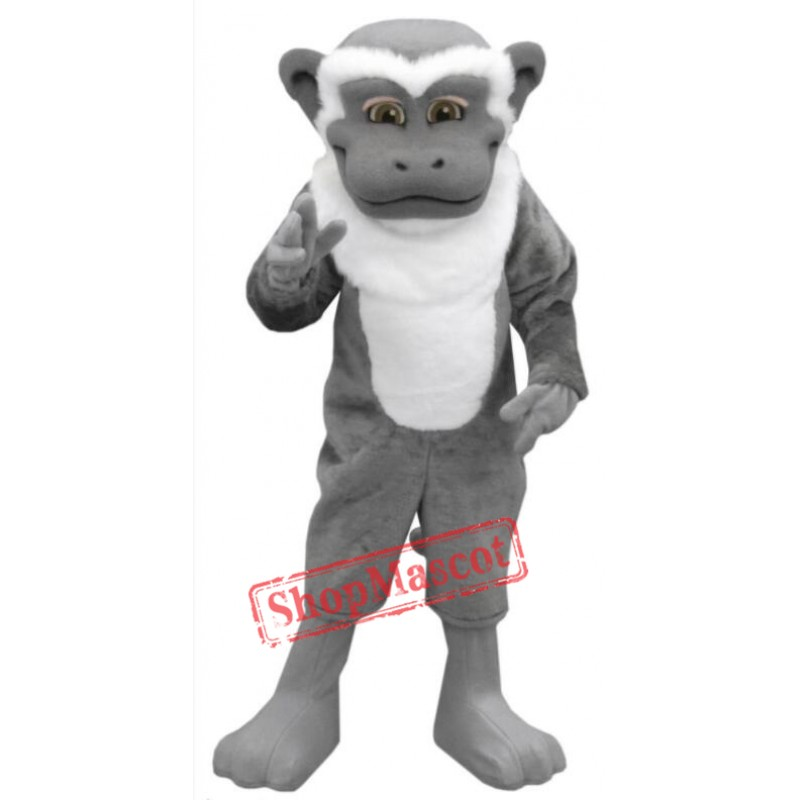 Grey White Monkey Mascot Costume