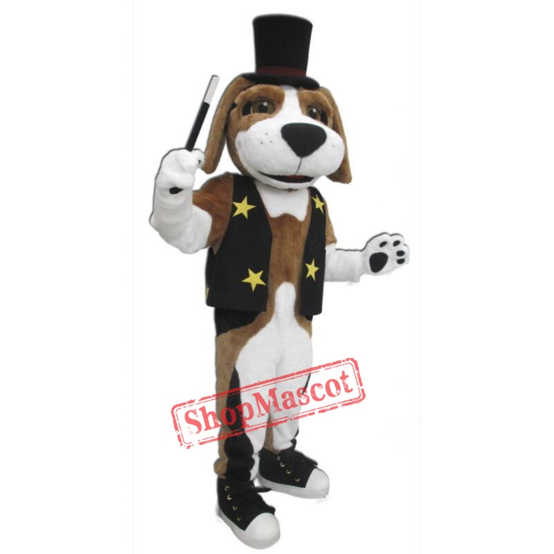 Brown White Dog Mascot Costume
