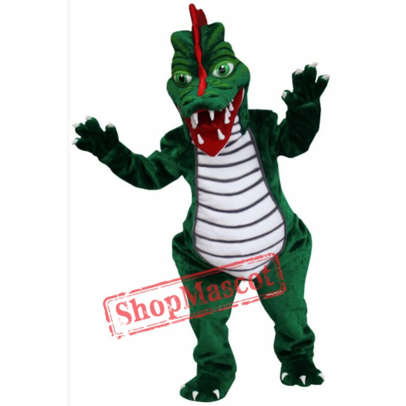 Green Dragon Mascot Costume Free Shipping
