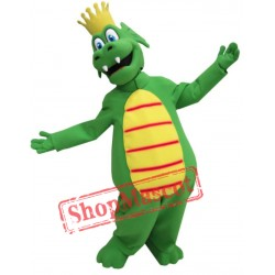 King Green Dragon Mascot Costume