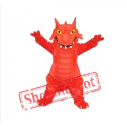 Red Blaze Dragon Mascot Costume