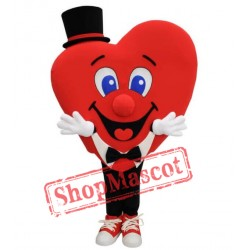 Health Heart With Top Hat Mascot Costume