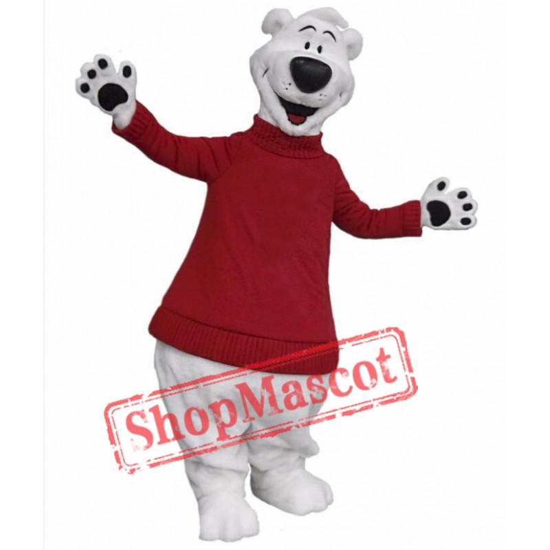 Happy Polar Bear Mascot Costume Free Shipping