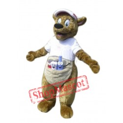 Happy Kangaroo Mascot Costume