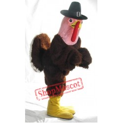 Pink Head Turkey Mascot Costume
