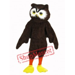 Cute Brown Owl Mascot Costume