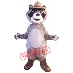 Grey Raccoon Mascot Costume