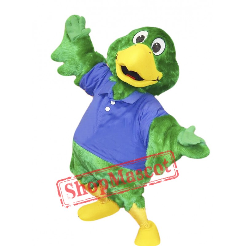 Green Parrot Mascot Costume