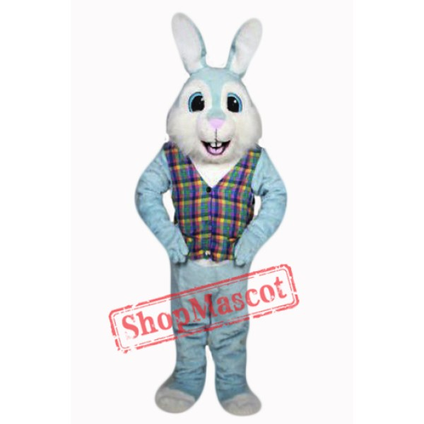 Blue Easter Bunny Mascot Costume