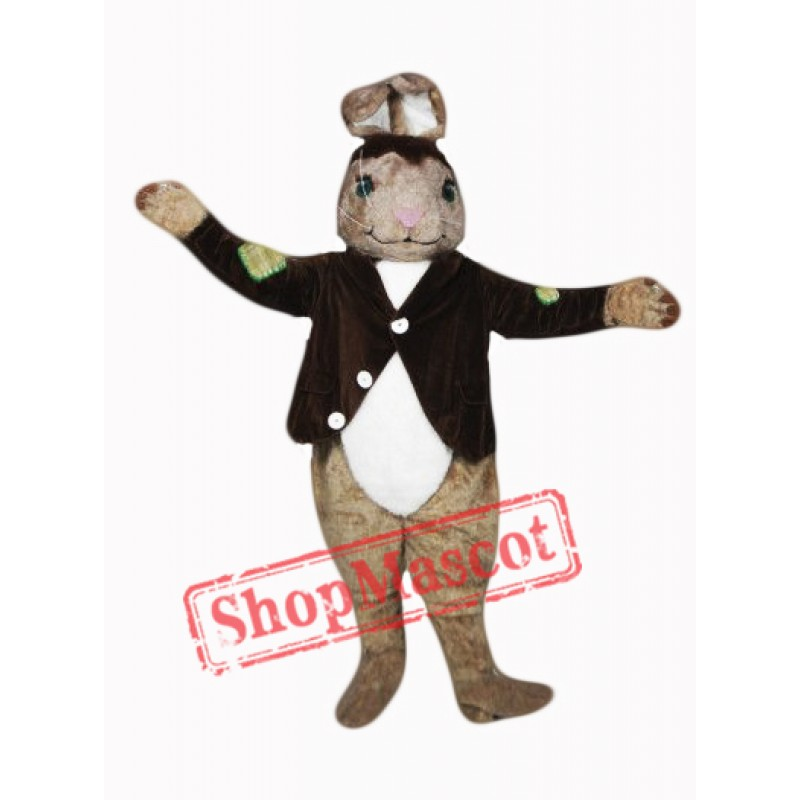 Brown Easter Bunny Mascot Costume