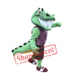 College Crocodile Mascot Costume