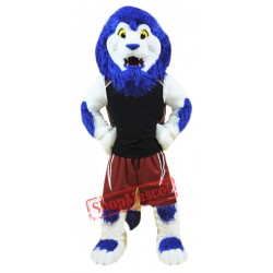 Blue Sport Lion Mascot Costume