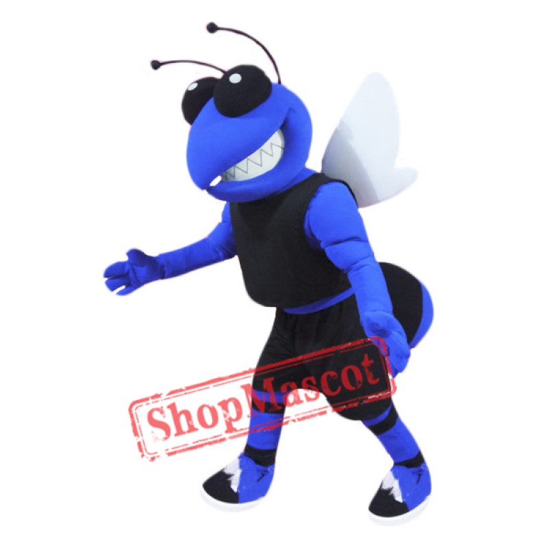College Blue Hornet Mascot Costume