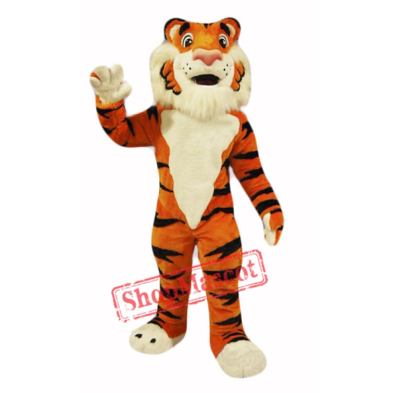 Friendly Tiger Mascot Costume Free Shipping