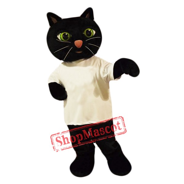 Cute Black Cat Mascot Costume