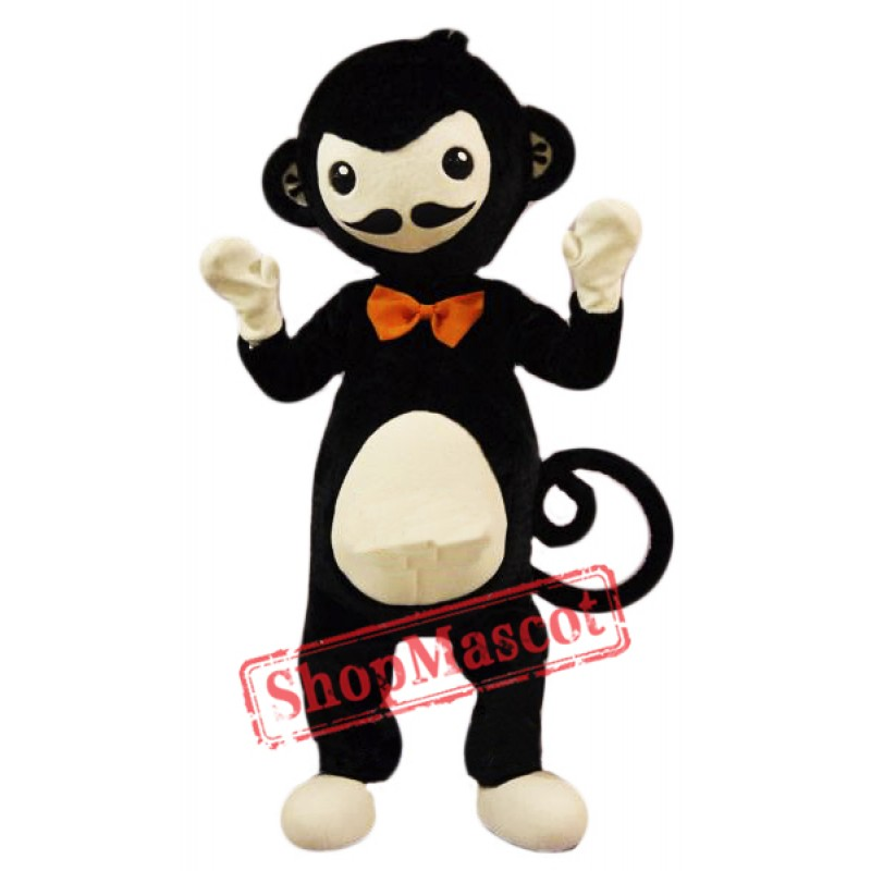 Cute Black Monkey Mascot Costume