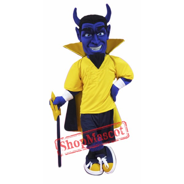 High Quality Blue Devil Mascot Costume