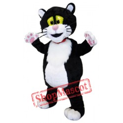 Cute Black & White Cat Mascot Costume
