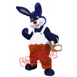 Blue & White Rabbit Mascot Costume